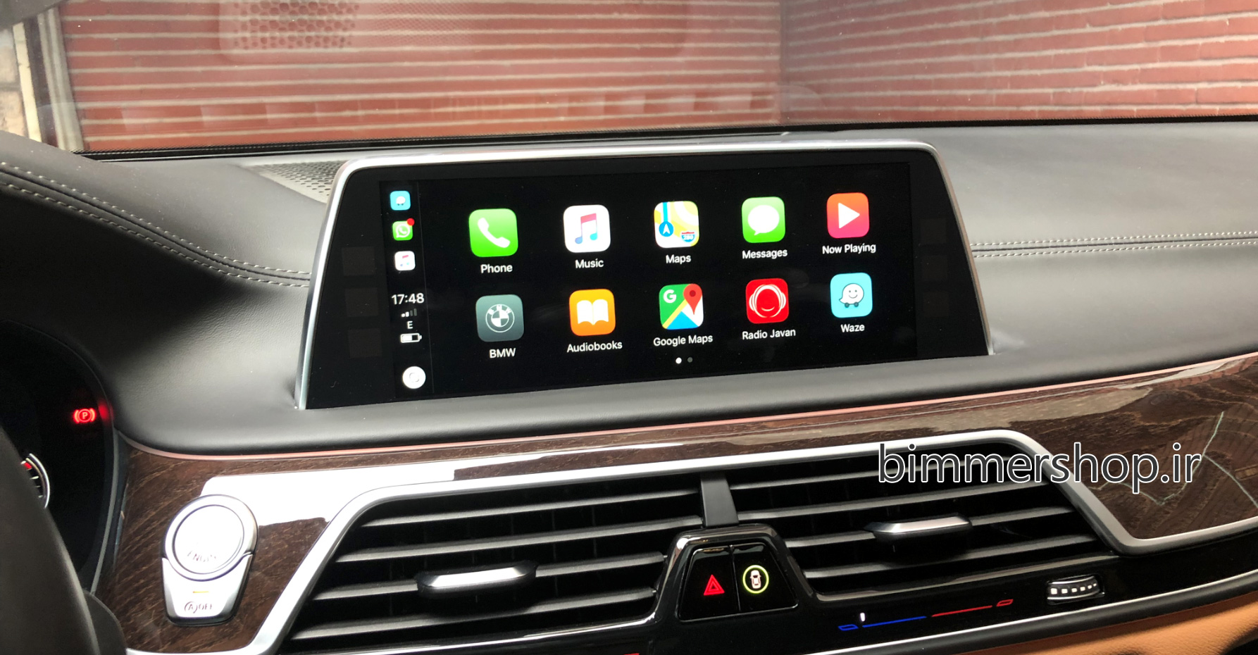 اپل کارپلی Apple CarPlay Fullscreen در BMW مجهز به NBT EVO